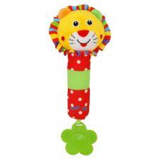 """Іграшка-пищалка з прорізувачем """"Лев"""", Baby Mix, 8377B-26L"""