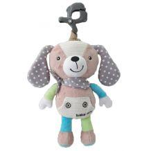 """Музыкальная игрушка-подвеска """"Собачка"""" серый, Baby Mix, P/1235-EU00"""