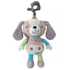 """Музична іграшка-підвіска """"Собачка"""" сірий, Baby Mix, P/1235-EU00"""