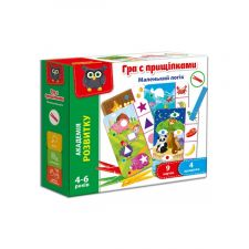 """Гра з прищіпками """"Маленький логік"""", Vladi Toys, VT5303-11"""