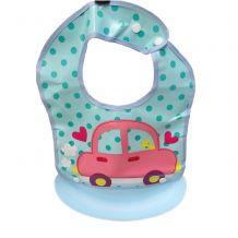 Дитячий нагрудник на кнопках Машинка, Stenson, R83691