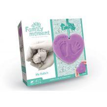 """Набір для відбитка ручки та ніжки """"Family Moment"""" фіолетовий, Danko Toys, FMM-01-01U"""