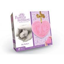 """Набір для відбитка ручки та ніжки """"Family Moment"""" рожевий, Danko Toys, FMM-01-02U"""