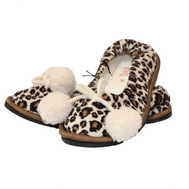 Тапочки з леопардовим принтом для дівчинки, OVS kids, 6439344