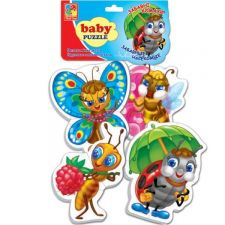 "Бебі-пазли ""Веселі комашки"", Vladi Toys, VT1106-82"