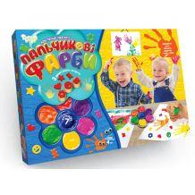 """Набір креативної творчості """"Пальчикові фарби 7 кольорів"""", Danko Toys, PK-01-02"""