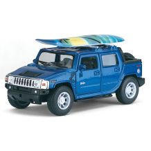 Модель Kinsmart 2005 Hummer H2 SUT w / surfboard красная, KT5097WS