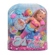 Evi Love Swimming Mermaid Лялька-русалочка Єва з довгим волоссям , Simba, 105733318