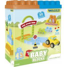 Конструктор Wader Baby Blocks Мои первые кубики 30 элементов в коробке, 41440