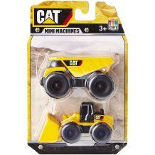 Набір з двох міні-машинок навантажувач і самоскид CAT, Toy State, 34635