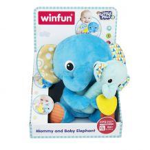"""М'які іграшки-обнімашки """"Слониха та слоненя"""", Smily Play, 000191"""