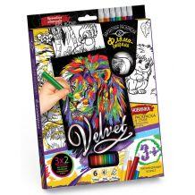 "Набір креативної творчості ""Бархатна розмальовка фломастерами Velvet"", Danko Toys, VLV-01-01"
