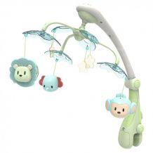 Музичний електромобіль-каруселька з світлодіодним проектором, Baby mix, 822-206A