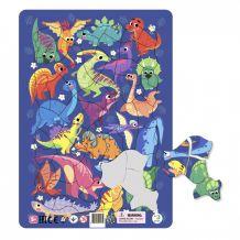 "Пазл з рамкою ""Динозаври"" 21ел., Dodo, 300181"