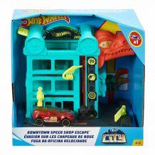 """Ігровий набір """"Незвичайні пригоди в місті Атака динозавра"""", Hot Wheels, FRH28/GFY69"""