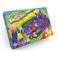 Набір креативної творчості Кінетичний пісок KidSand 1200 г + пісочниця, Danko Toys, KS-02-02U