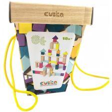 Дитячий дерев'яний конструктор Cubika, 50 деталей, 15191