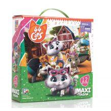 "Maxi пазли ""44 Коти. На фермі"", Vladi Toys, VT1722-01"