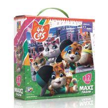 """Maxi пазли """"44 Коти. У місті"""", Vladi Toys, VT1722-02"""