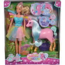 """Ляльковий набір Steffi Love """"Вагітна мама-єдиноріг з малюком і ванною"""" , Simba, 5733313"""