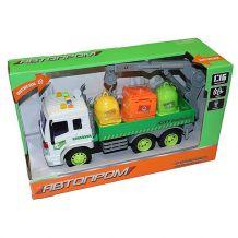 """Модель """"Автопром"""" Вантажівка з краном (1:16) звуки та світло, 7671"""