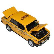 """Модель """"Автопром"""" Таксі Lada 2106 (1:32) звуки та світло, 7643"""