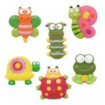 """Набір іграшок для ванни """"Садові друзі"""", 6 шт., Baby Team, 9057"""