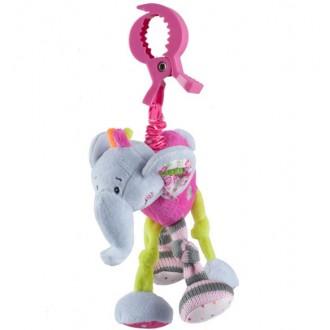"""Іграшка велюрова з вібрацією """"Слоненя"""", 1280"""