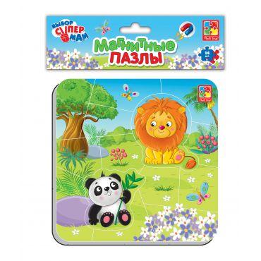 """Магнітні пазли """"Зоопарк"""", Vladi Toys, VT3204-12"""