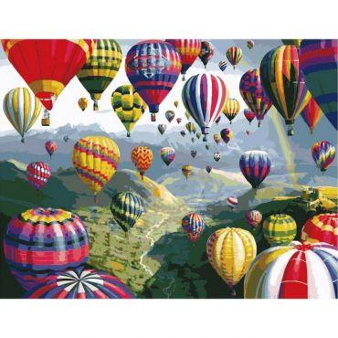 """Набір креативної творчості """"Картина за номерами. Повітряні кулі"""" 40х50 см, Ідейка, КНО1056"""