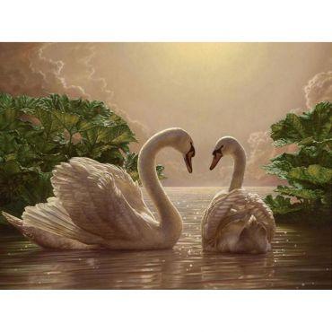 """Набір креативної творчості """"Картина за номерами. Пара лебедів"""" 40х50 см, Ідейка, КНО301"""
