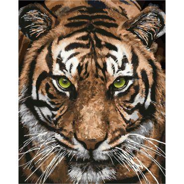 """Набір креативної творчості """"Картина за номерами. Величний тигр"""" 40х50 см, Ідейка, КНО4166"""