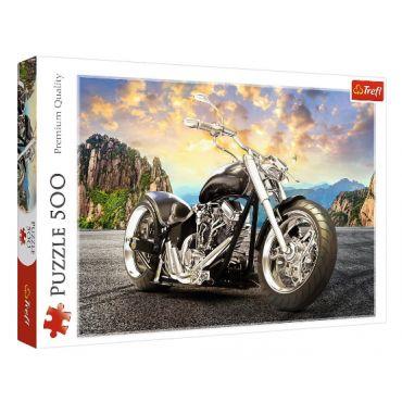 """Пазл """"Чорний мотоцикл"""" 500ел., Trefl, 37384"""