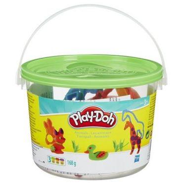 Ведерко с форм.та 4 б.теста Сафари Play-Doh, 23414