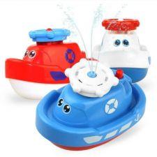 """Іграшка для ванни """"Катер"""" червоний, Sunlike, SL87002"""
