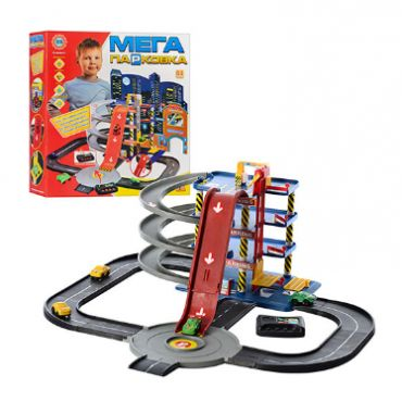"Ігровий набір Паркінг - гараж ""Мега парковка"" 4 поверхи, Toys, 922-7"