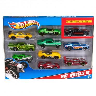 Подарунковий набір автомобілів (10шт.) Hot Wheels, 54886