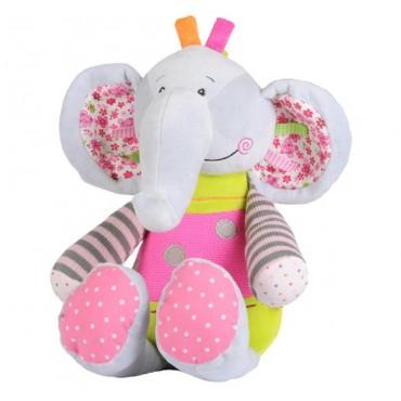 """Іграшка велюрова з брязкальцем """"Слоненя"""", BabyOno, 1192"""