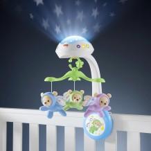 """Мобиль-проектор 3-в-1 """"Мечты о бабочках"""" Fisher-Price, CDN41"""