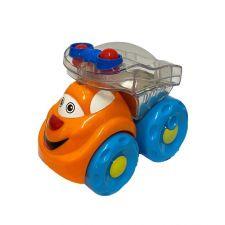 Машинка-погремушка оранжевая 10 см, Limo Toy, 706