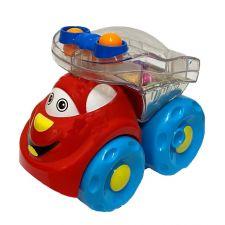 Машинка-погремушка красная 10 см, Limo Toy, 706