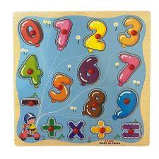 "Деревянная игрушка-пазл ""Рамка-вкладыш Цифры"", Toys, C39076"