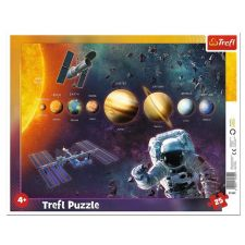 """Пазл рамковий """"Сонячна система"""" 25ел, Trefl, 31342"""