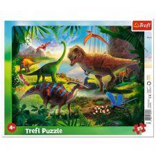 "Пазл рамковий ""Динозаври"" 25ел, Trefl, 31343"