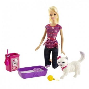 "Набор Barbie с котенком серии ""Уход за любимцами"", BDH76"