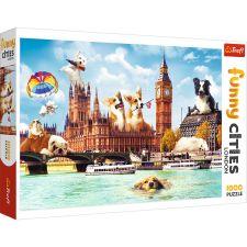 """Пазл Funny Cities """"Собаки в Лондоне"""" 1000ел., Trefl, 10596"""