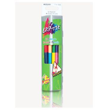 Олівці кольорові Crip-rite 12 штук 24 кольори, Marco, 9101-12СВ
