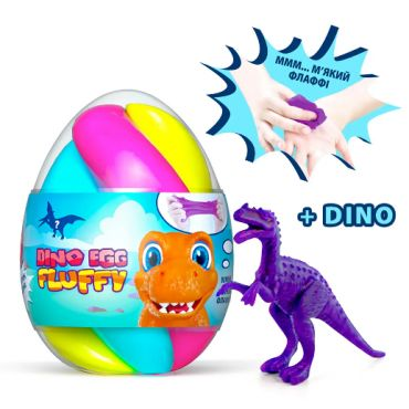 Лизун-антистрес Mr.Boo Fluffy Dino Egg 140мл, ОКТО, 80091
