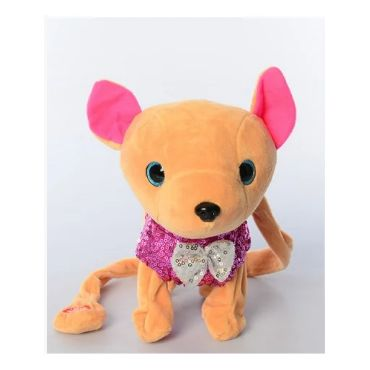 """Інтерактивна собачка """"Кіккі"""" в рожевому з паєтками, Toys, M4307"""