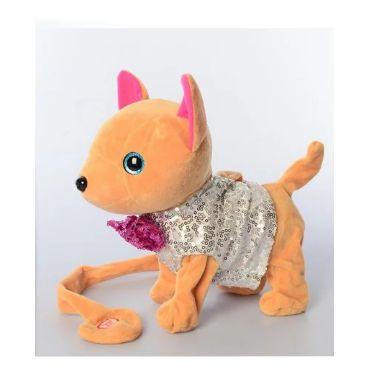 """Інтерактивна собачка """"Кіккі"""" в сірому з паєтками, Toys, M4307"""